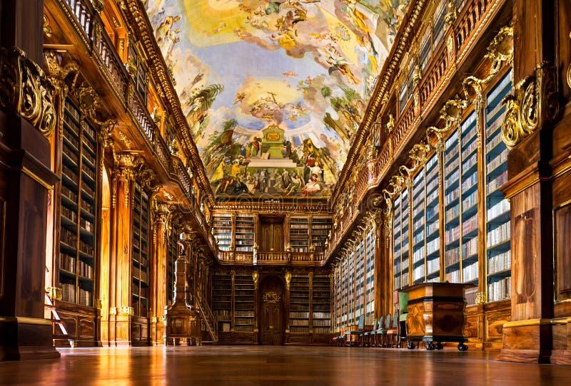 Interior de la biblioteca de monasterio de Strahov imagen de archivo