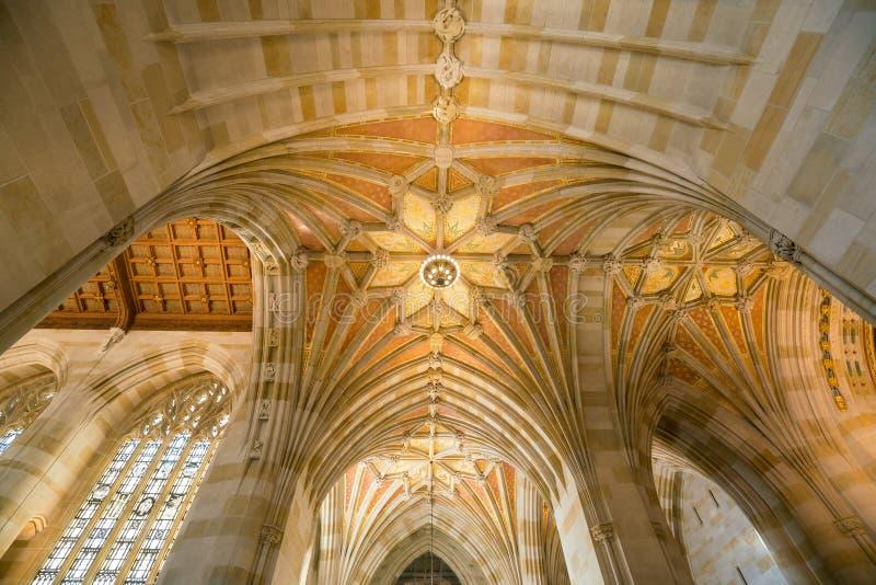 Interior de la biblioteca de Yale University imagen de archivo
