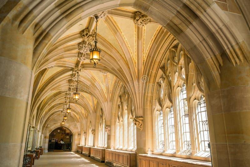 Interior de la biblioteca de Yale University imágenes de archivo libres de regalías
