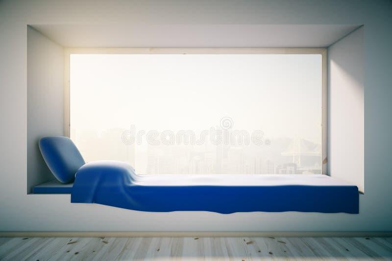 Interior de la cama del alféizar libre illustration