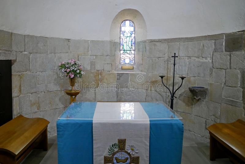 Interior de la capilla del ` s de St Margaret, Edimburgo escocia imagen de archivo