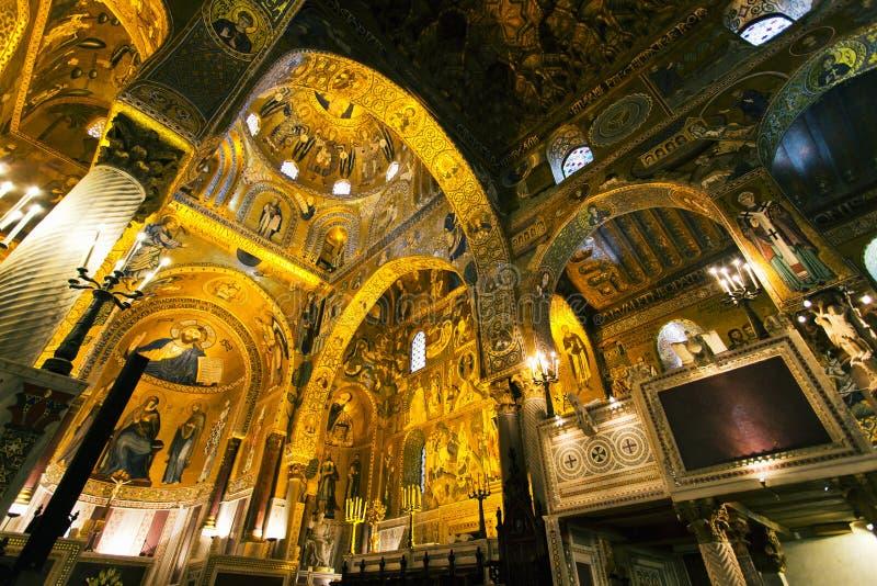 Interior de la capilla de Palatine foto de archivo libre de regalías