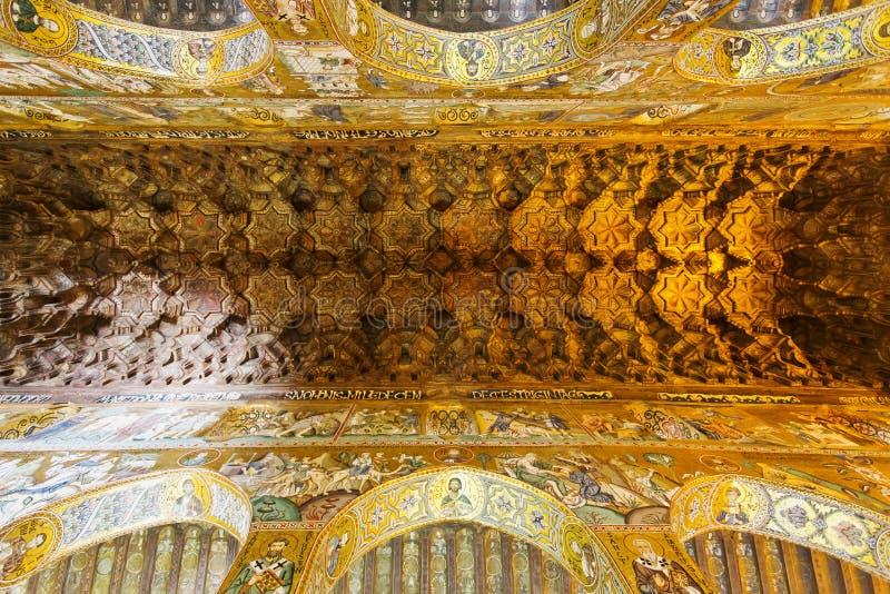 Interior de la capilla de Palatine imagen de archivo libre de regalías