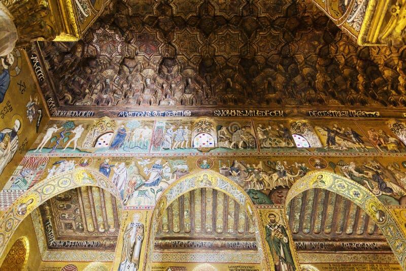 Interior de la capilla de Palatine imagen de archivo
