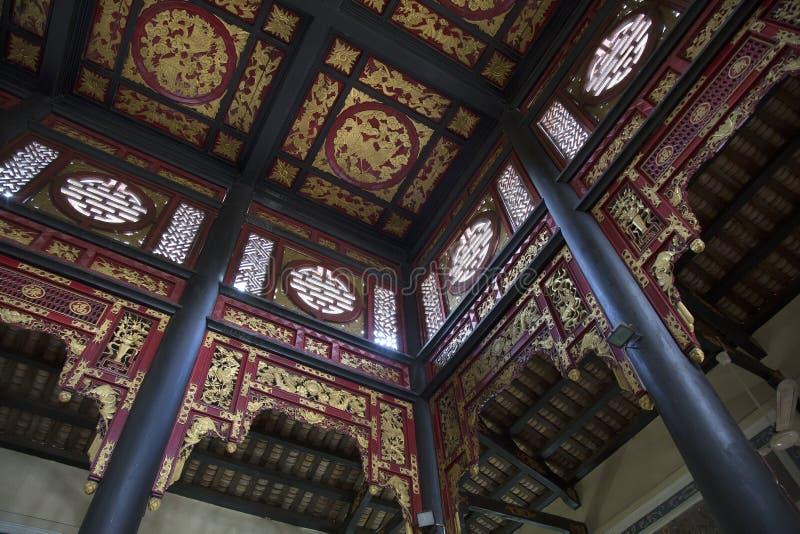 Interior de la casa china antigua imágenes de archivo libres de regalías