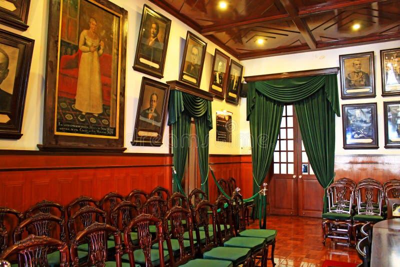 Interior de la casa santa de la misericordia, Macao, China fotografía de archivo