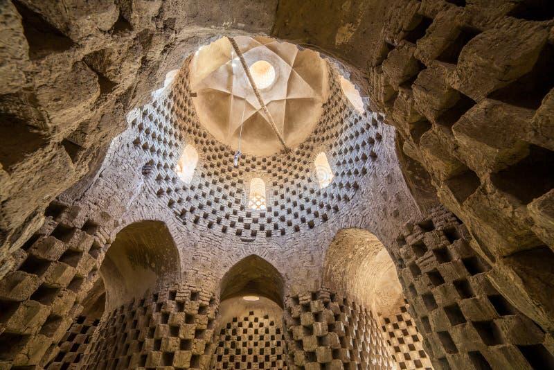 Interior de la casa tradicional de la paloma en la provincia de Yazd, Irán imagenes de archivo
