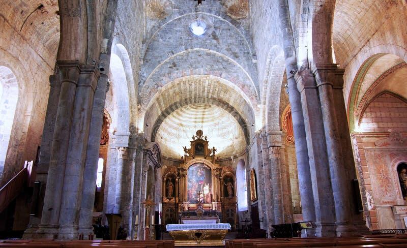 Interior de la catedral foto de archivo libre de regalías