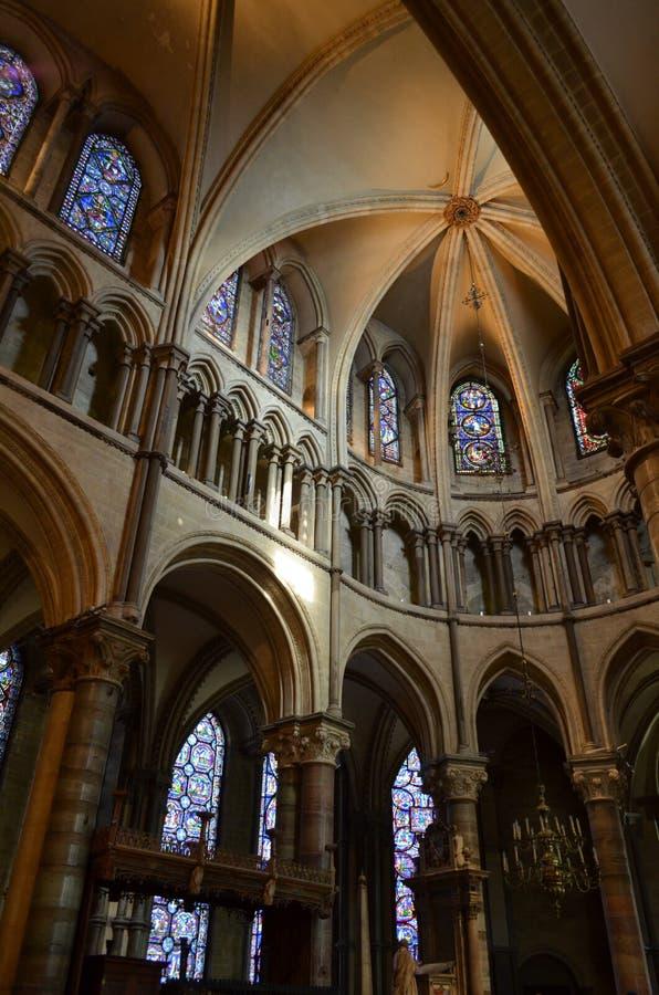 Interior de la catedral de Cantorbery. fotos de archivo