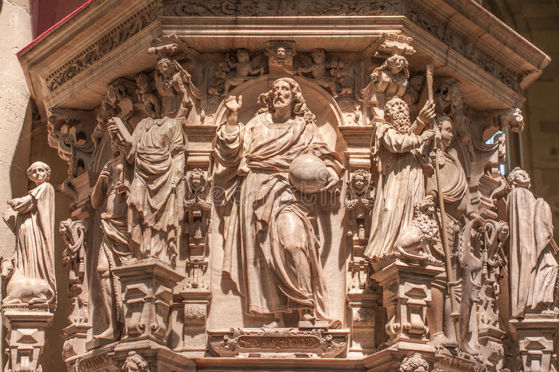 Interior de la catedral de Magdeburgo, Magdeburgo, Alemania imagen de archivo libre de regalías