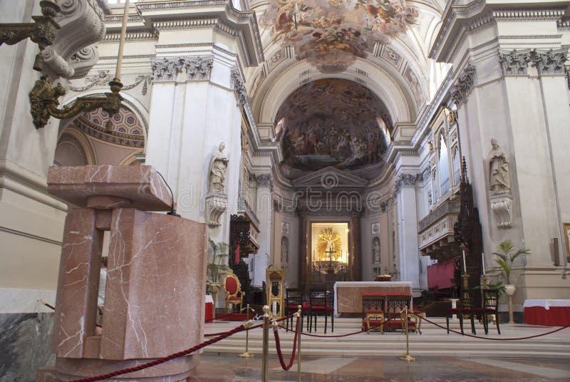 Interior de la catedral de Palermo imágenes de archivo libres de regalías