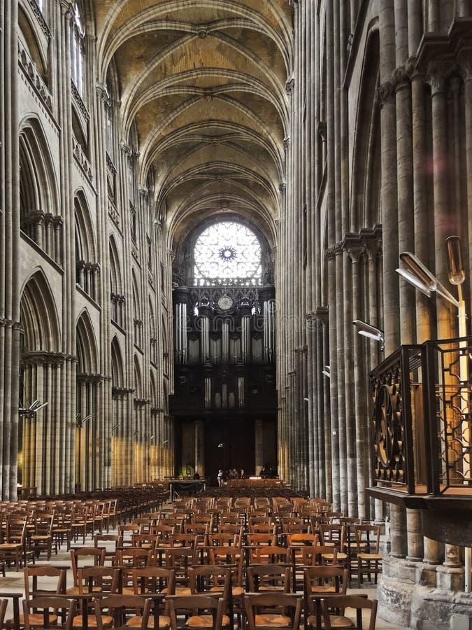 Interior de la catedral de Ruán fotografía de archivo libre de regalías