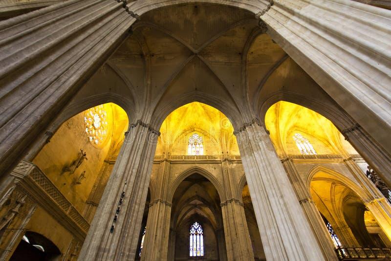 Interior de la catedral de St Mary del ver en Sevilla, A imágenes de archivo libres de regalías