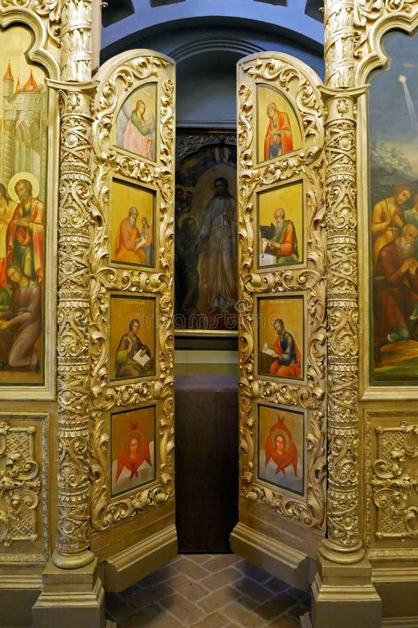 Interior de la catedral del ` s de la albahaca del St en cuadrado rojo , Moscú, Rusia foto de archivo