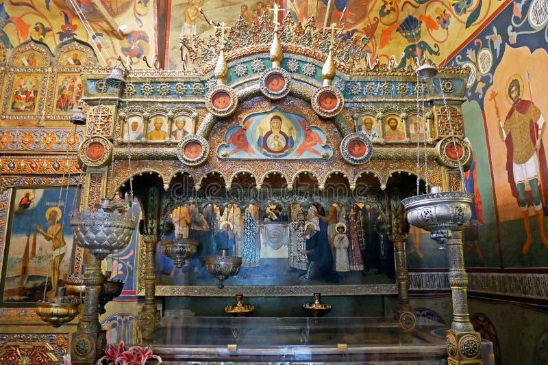 Interior de la catedral del ` s de la albahaca del St en el cuadrado rojo, Moscú, Rusia fotos de archivo