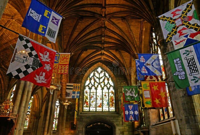 Interior de la catedral del ` de St Giles en la calle real de la milla, Edimburgo imagenes de archivo