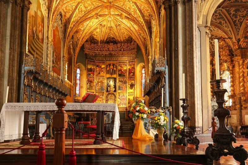 Interior de la catedral en Funchal imagen de archivo libre de regalías