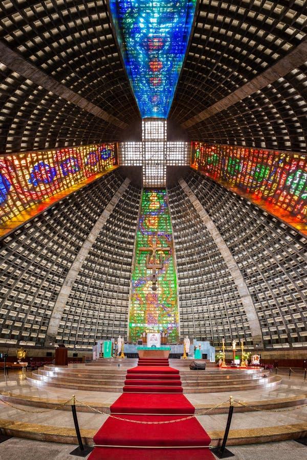 Interior de la catedral metropolitana imágenes de archivo libres de regalías