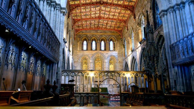 Interior de la catedral de St David imagen de archivo libre de regalías