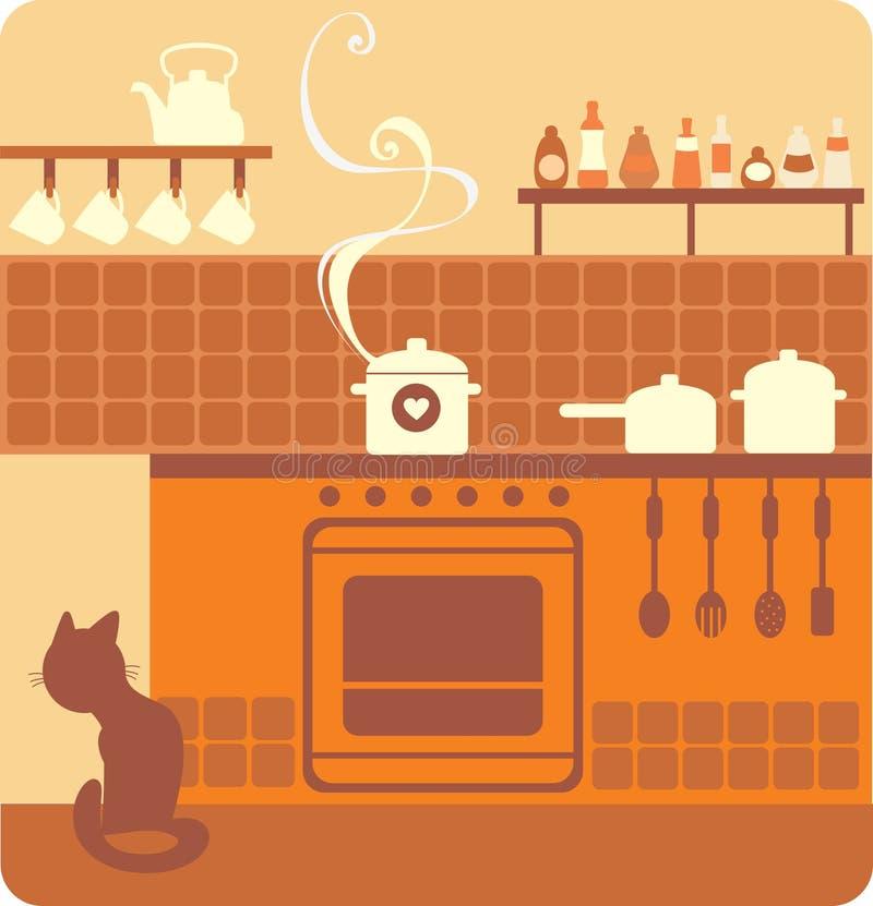 Interior de la cocina libre illustration