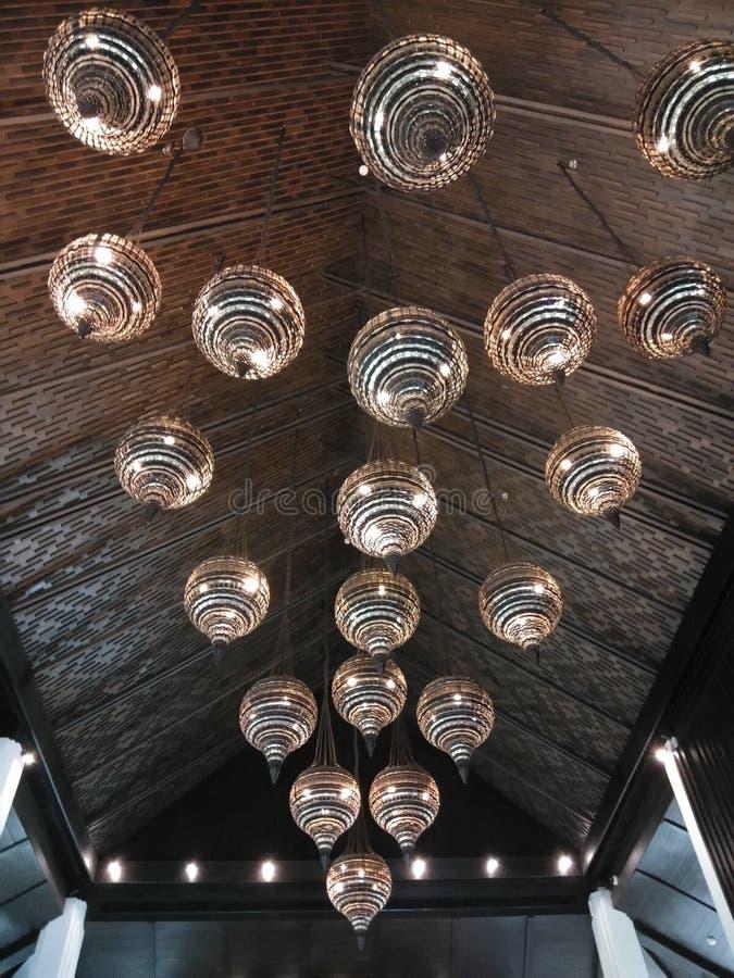 Interior de la decoraci?n de la l?mpara de la luz de techo imagen de archivo