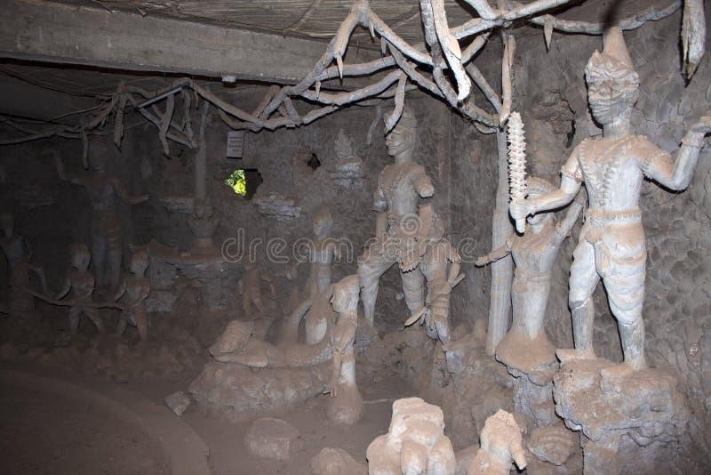 Interior de la escultura concreta gigante foto de archivo