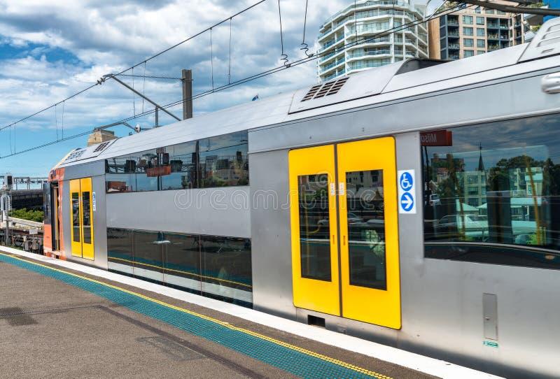 Interior de la estación de metro en Sydney, Australia fotografía de archivo libre de regalías