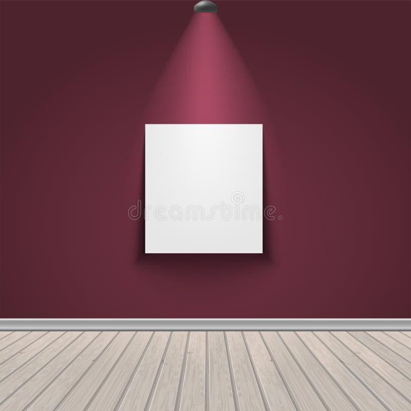 Interior de la exposición de la galería libre illustration