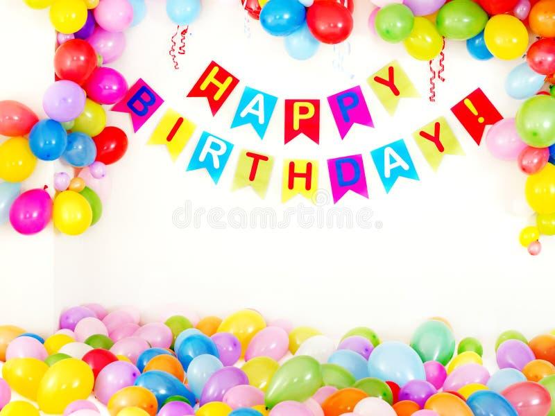 Interior de la fiesta de cumpleaños. imagen de archivo libre de regalías