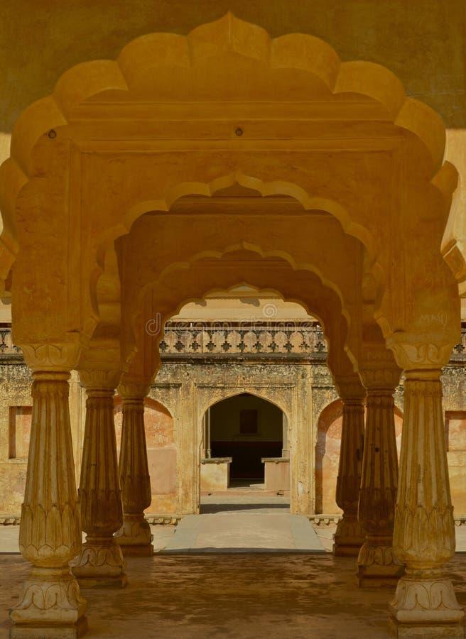 Interior de la fortaleza ambarina fotos de archivo libres de regalías