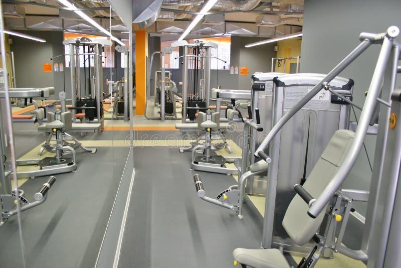 Interior de la gimnasia imagen de archivo libre de regalías