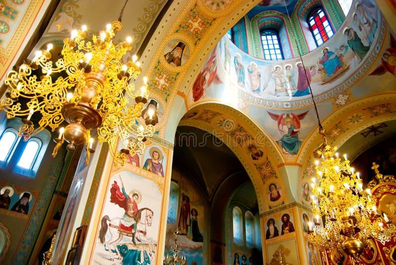 Interior de la iglesia imagen de archivo