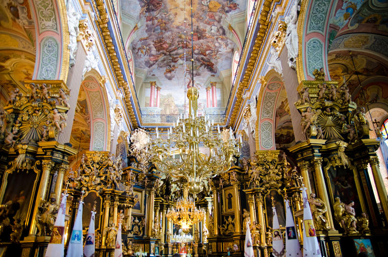 Interior de la iglesia foto de archivo libre de regalías