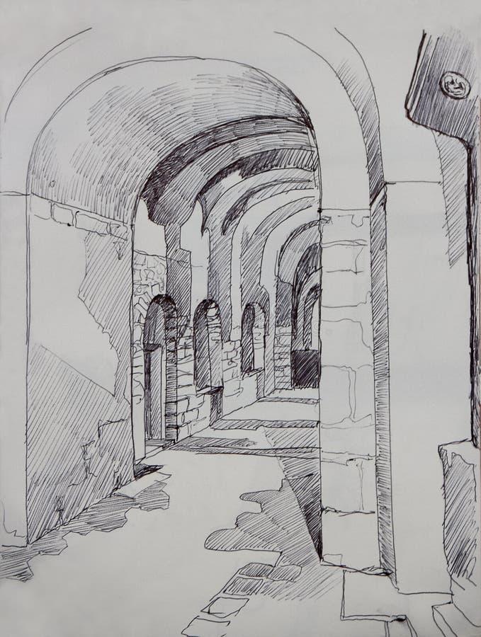 Interior de la iglesia cristiana del St Irene en Estambul, Turquía fotos de archivo