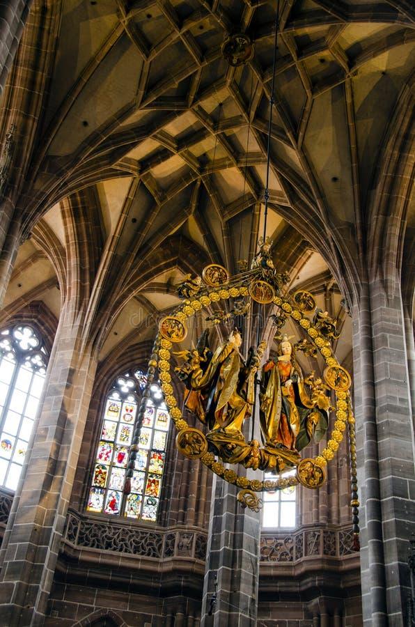 Interior de la iglesia de Lorenz del santo fotos de archivo libres de regalías