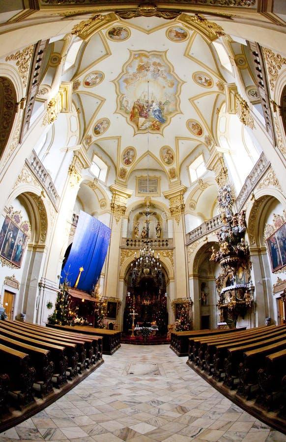 interior de la iglesia del peregrinaje, Wambierzyce, Polonia fotografía de archivo libre de regalías
