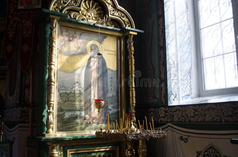 Interior de la iglesia ortodoxa fotografía de archivo