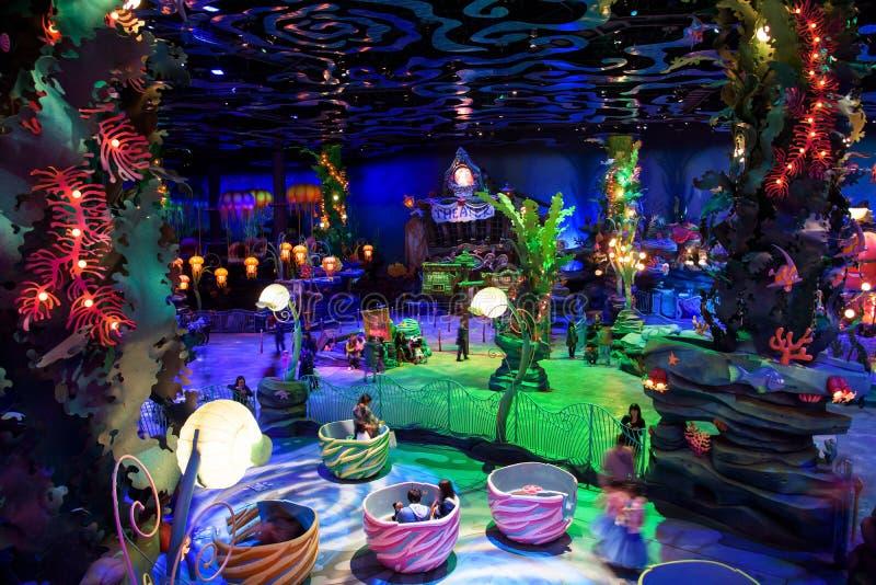 Interior de la laguna de la sirena en el mar de Tokio Disney foto de archivo libre de regalías