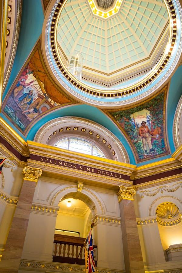 Interior de la legislatura de la Columbia Británica imágenes de archivo libres de regalías