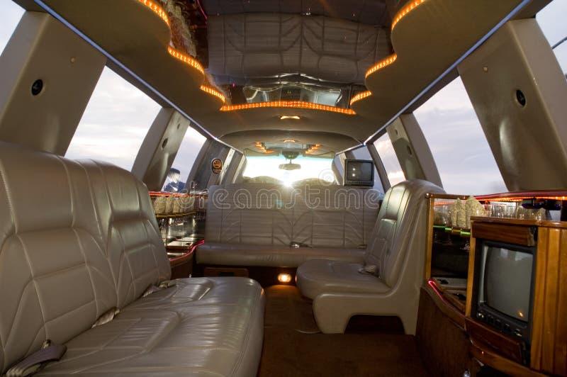 Interior de la limusina fotografía de archivo
