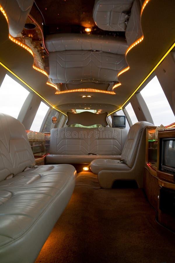 Interior de la limusina imagen de archivo