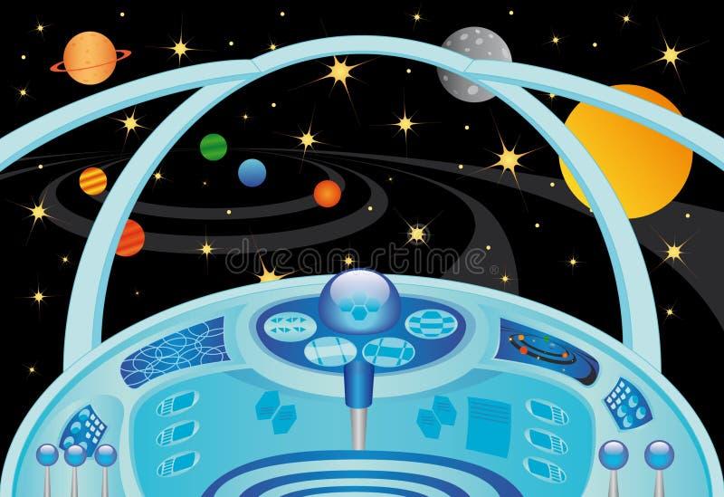 Interior de la nave espacial ilustración del vector
