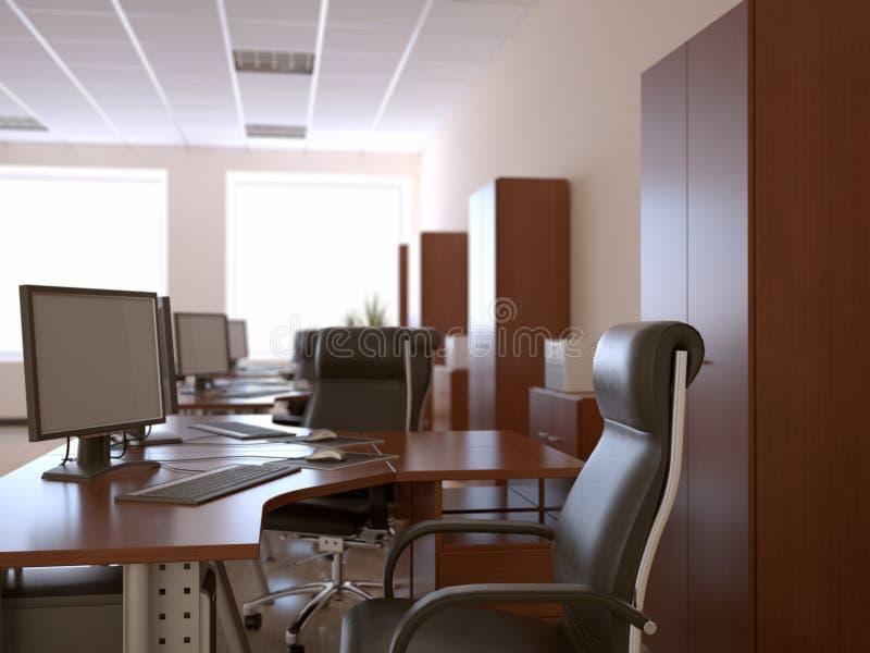Interior de la oficina ilustración del vector