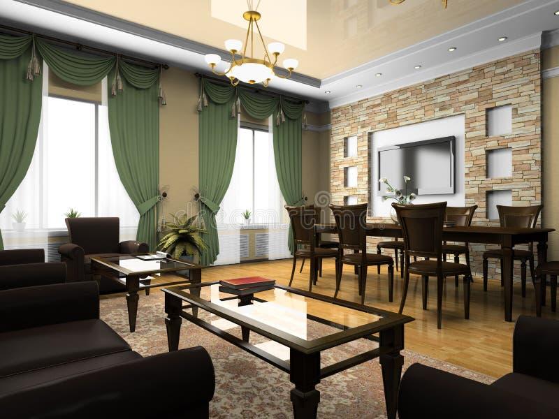 Interior de la oficina en estilo clásico stock de ilustración