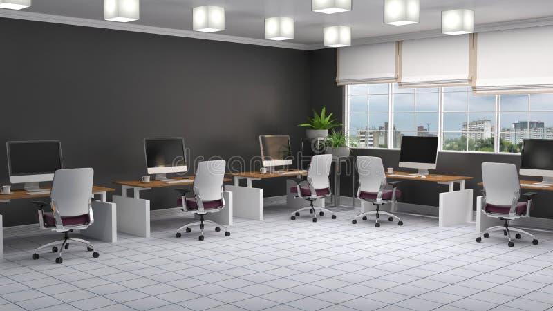 Interior de la oficina ilustración 3D stock de ilustración