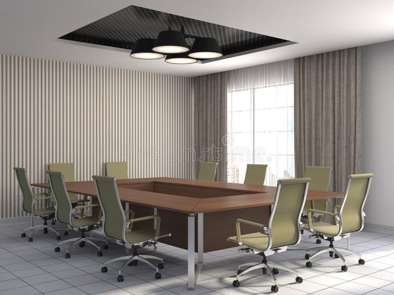 Interior de la oficina ilustración 3D ilustración del vector