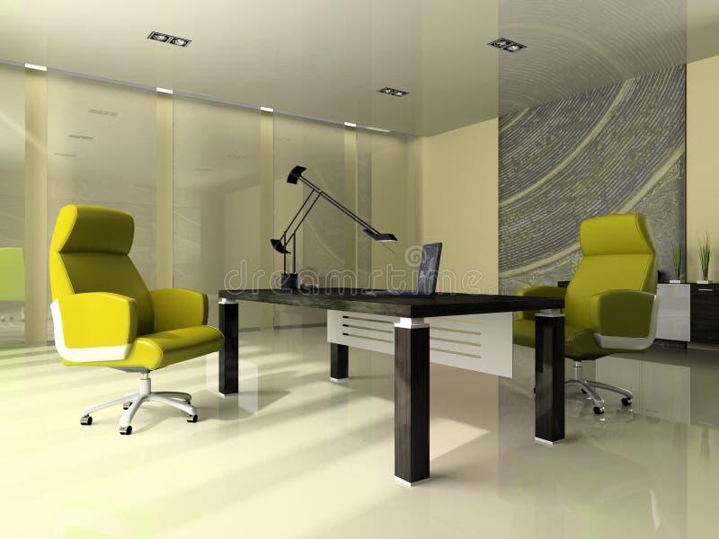 Interior de la oficina moderna ilustración del vector