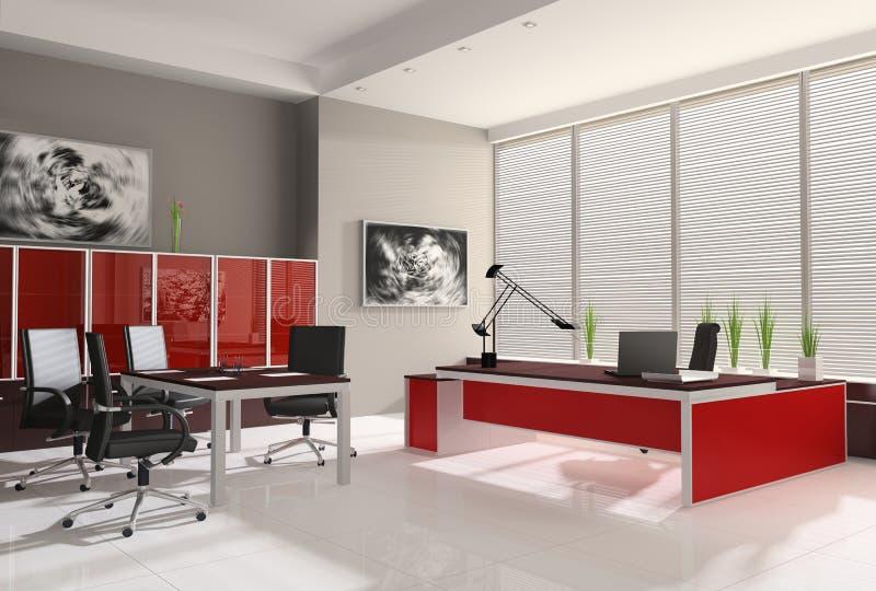 Interior de la oficina moderna stock de ilustraci n for Muebles para oficina 3d max