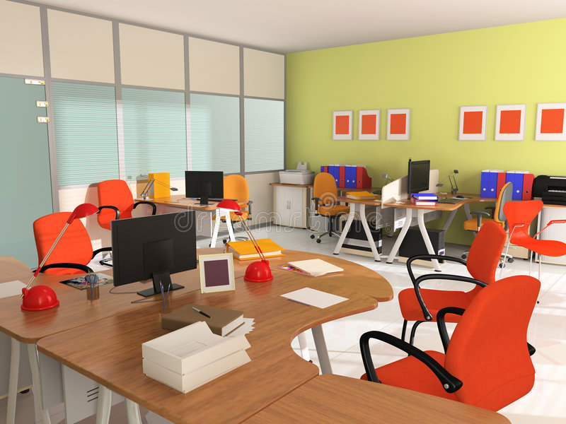 Interior De La Oficina Moderna Foto de archivo libre de regalías