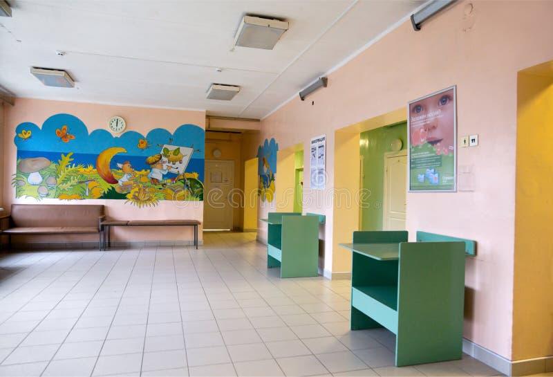 Interior de la policlínico de los niños foto de archivo libre de regalías